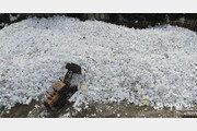 추석연휴 끝나자 폐스티로폼 산더미