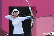 신궁 안산, 세계선수권 개인전 8강진출… 올림픽 이어 또 3관왕 도전