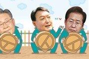 홍준표 49.6% vs 이재명 35.5%…윤석열 48.9% vs 李 36.1%