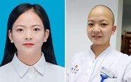 """""""머리는 다시 자란다"""" 우한 폐렴 비상에 '삭발' 감행한 간호사"""