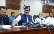 파키스탄 정치인, 생방송 도중 '고양이 귀' 변신
