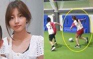 유전자의 힘?... 축구 실력 뽐낸 '송종국 딸' 지아