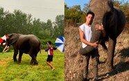 """헝가리 곡예사 """"나와 내 코끼리는 한 가족"""""""