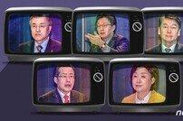 대선후보 TV토론, '적폐연대' 프레임 놓고 문재인·안철수 설전