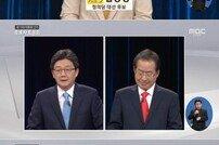 """[대선 후보 tv 토론] 심상정-유승민 """"성폭력 공모한 홍준표, 즉각 사퇴해야"""""""