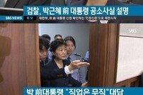 """박근혜 전 대통령 재판 시작, 직업 묻자 """"무직입니다"""""""