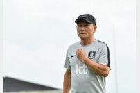 "U-22대표팀 김학범 감독 ""평가전 취소, 당혹스럽고 아쉽다"""