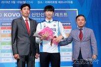 [포토] 홍익대 정성규 '1라운드 4순위로 삼성화재!'