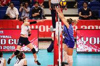 여자배구, 러시아 벽 못 넘고 0-3 완패