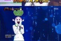 '복면가왕' 순무의 정체는 개그우먼 오나미…가지 2R 진출