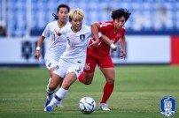 여자 U-19 축구대표팀, AFC U-19 준결승서 북한에 1-3 패