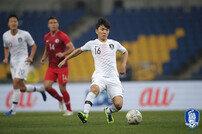 [EAFF E-1 챔피언십] '밀집 수비 고전' 한국, 황인범 골로 홍콩 전 전반 1-0 리드