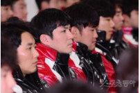 [포토] 신년 하례식 참석한 오지환