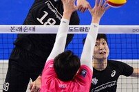 [포토] 신영석 '블로커 반응이 느려'
