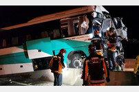 중앙고속도로 사고, 8톤 화물차·고속버스 추돌→17명 부상