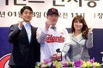 [포토] 안치홍, 롯데자이언츠 입단식