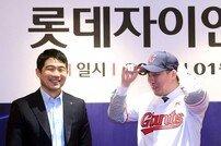 [포토] 안치홍 '마차도와 키스톤콤비 기대됩니다'