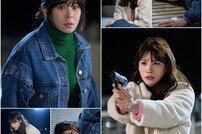 '굿캐스팅' 최강희x유인영, 불안한 눈빛 vs 떨리는 손길…'총격 대치' 투샷