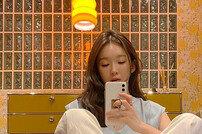 """강민경 반려견 투샷 """"어젯밤 우리 모녀"""""""