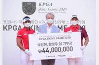 [포토] 박상현-함정우 '4,400만원 국경없는 의사회 기부'