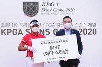 [포토] 박상현 '최다 스킨으로 MVP 선정'