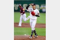 [포토] 김이환 '홈런에 당했다'