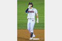 [포토] 박건우 '이제 3점 남았다'