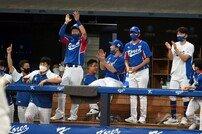[포토] 박건우 '홈런 만세'