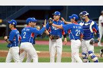[포토] 야구대표팀, 키움 평가전 2-1 승리