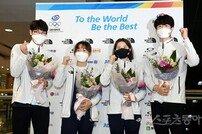 [포토] 도쿄올림픽을 마치고 귀국한 수영대표팀!