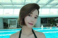 레이양, 릴레이 수영복 패션→압도적인 볼륨