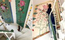 센스 대단해...'집안 전체'에 그림 그려버린 예술가