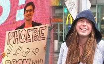 """타임스퀘어 광고판 앞에서 """"나와 무도회 가 줄래?"""""""
