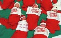 12월 탄생 축하 선물, 크리스마스 양말 속 신생아들
