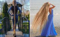 길이 180cm…다섯 살 때부터 머리카락 기른 '라푼젤'