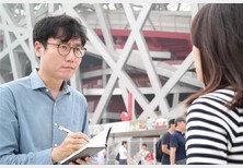 베이징에서 중국 시민 취재 중