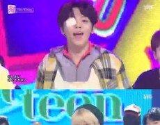 '인기가요' TEEN TEEN, 이태승 안대 착용…변함 없는 청량 美