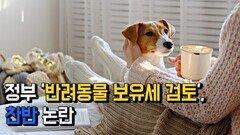 정부 '반려동물 보유세 검토'... 찬반 논란
