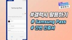 [갤럭시 활용하기] #Samsung Pass #간편 인증서