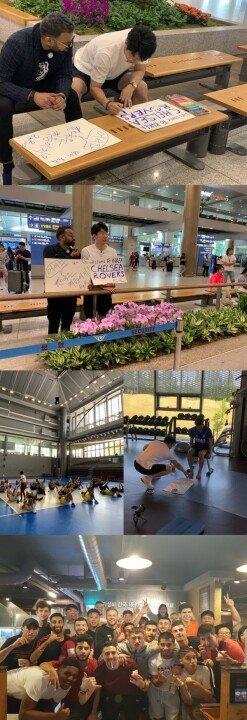 [DA:클립] '으라차차 만수로' 첼시 로버스 선수단, 한국 왔다