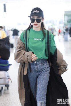 치웨이, 센스 넘치는 공항 패션 '미모 실화야?' [포토화보]