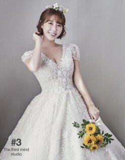 나비, 11월의 신부 웨딩 드레스 자태 [화보]
