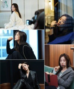 이청아, 우아한 섹시美…화보 비하인드 공개