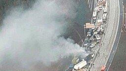 상주 영천고속도로 연쇄 추돌사고, 사상자 40여명