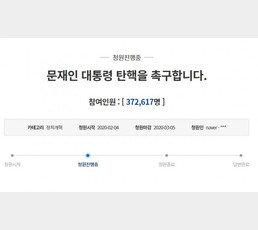'文 탄핵 국민청원' 37만명 돌파…하루 만에 10만명 증가