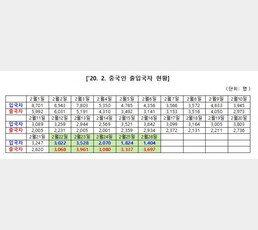 [단독] 청와대, 출입국 통계 가짜뉴스?…법무부 자료엔 '중국인'