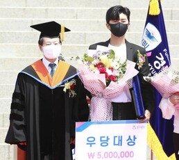 """[e글e글]""""같은 학교라 이런 기회가…"""" 임영웅, 경복대학교 방문에 '들썩'"""
