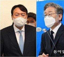 윤석열 26.9% 이재명 25.2%…尹·洪, 양자대결서 李에 앞서