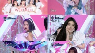 '엠카' 위키미키, '대즐대즐' 컴백 첫 무대…중독甲 멜로디