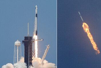 우주여행 시대 열렸다…스페이스X 첫 '민간' 유인우주선 발사 성공